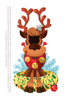 Xmas Reindeer Cut Out by MissChatZ