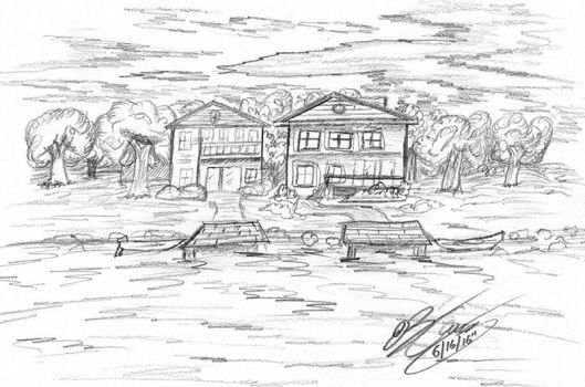 Lakeside Houses by jimmysworld