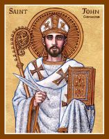 St. John Chrysostom icon by Theophilia