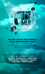 Major League Recordings event flyer by johny01