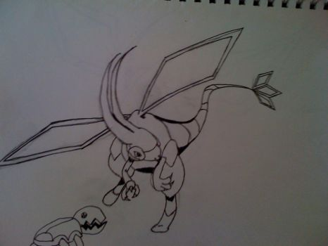 Flygon and trapinch by Gambit337