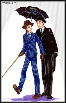Jeeves and Wooster: Umbrella by vejiicakes