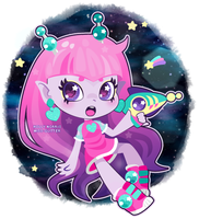 Pink Space girl by Miss-Glitter