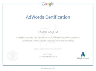 google certification by zamir