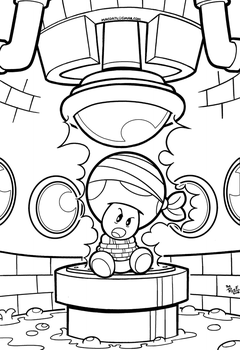 SMB the movie coloring book REMAKE 28 by FlintofMother3