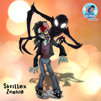 Zombie Skrillex by rozhvector