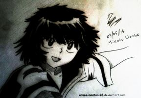 Fourth Anime drawing ever :D - Mikoto Urabe by anime-master-96