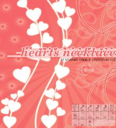 Hearts necklace Brushes by Coby17
