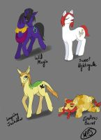 Dragon Age Ponies Set 1 by modesty