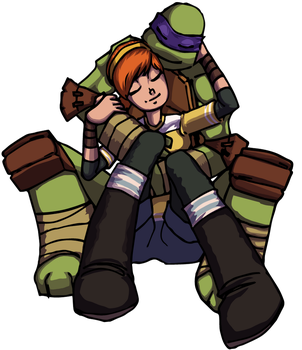 Don and April cuddle by ssjfabian