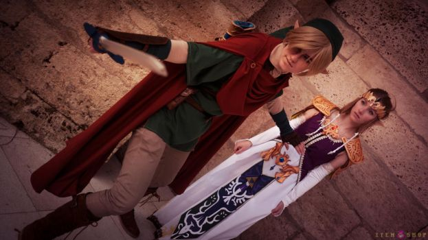 Link and Zelda at Animuc 2015 by Glasmond