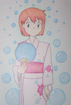 Misty Waters in kimono - P'mon by angelberries