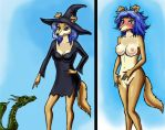 The Sexy Witch and the Angry Dragon by ghj103
