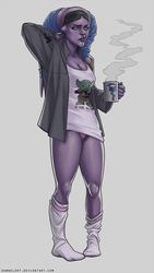 [C] Tali in the Morning by hannelArt