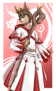 White Mage Karomori by Nukude