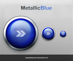 Metallic Blue Button by easydisplayname