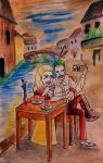 Joker And Harley in Venice by saoumitaag