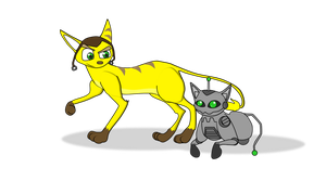 Ratchet and Clack as Cats by DaFunB0XMaN