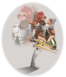 Chicken Knight redo by theMuesLee