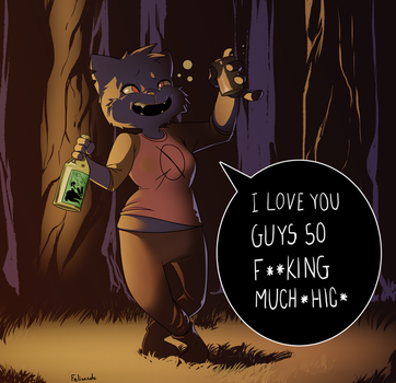 Drunk in the Woods by Blackblader