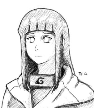 Hinata practice by Twin-3