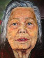 My Grandmother's portrait by bananalicious