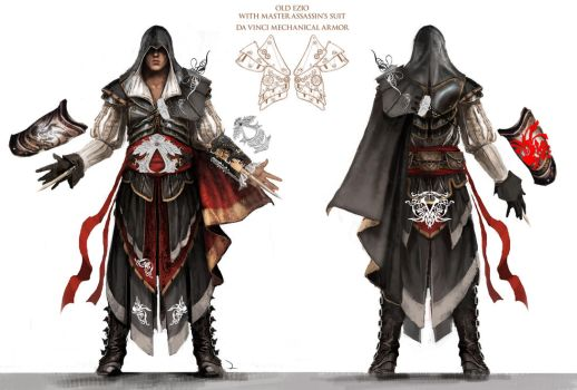 Armor of Altair Blueprints by FullmetalVamp