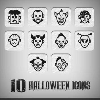 Halloween icons black by doghead
