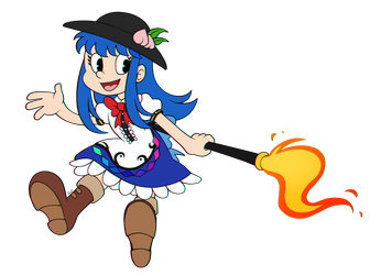 Tenshi but she was drawn in cartoon style by aimturein
