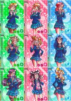 llsif cards by Selebushka