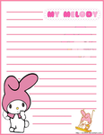 My Melody Stationery by eRininix