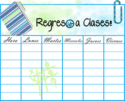 Blue Regreso a clases by candybubblesweety