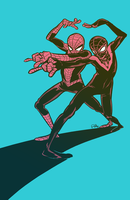 Spider-Man Peter and Miles by PollyGuo