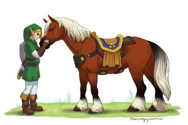 A Hero and his Companion by Rebeccannoying