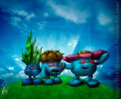 Oddish, Gloom and Vileplume