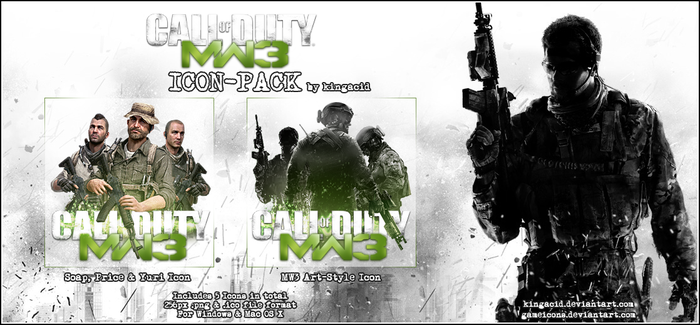 Call of Duty Modern Warfare 3 - Game Icon PACK by Crussong