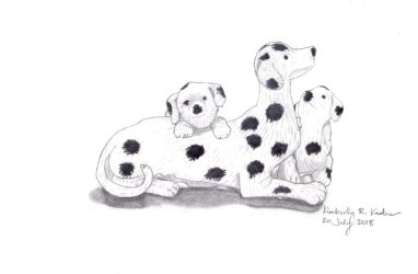 Dalmatian Figurine by LuckyNumber113