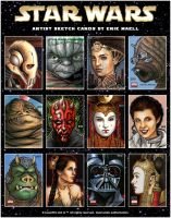 Star Wars Sketch Cards by Erik-Maell