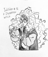Inktober #16: a Divination Witch by fdevita