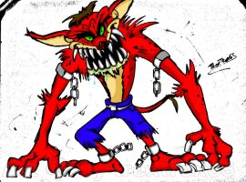 Evil Crash In Earthworm Jim Style Colored by CrashBandicoot2015