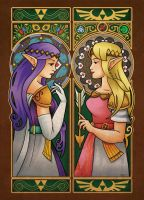 Link Between Princesses by ChristaDoodles