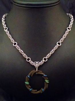 Small Byzantine Shiken Necklace by chainedoombaby