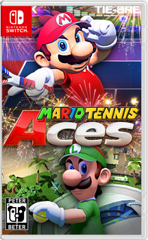 Mario Tennis Aces Nintendo Switch Cover by PeterisBeter