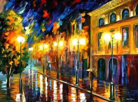 Fascination Of The Night by Leonid Afremov by Leonidafremov