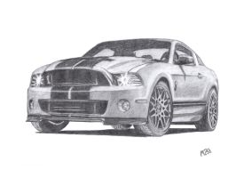 Mustang GT 500 by eagleeyeking