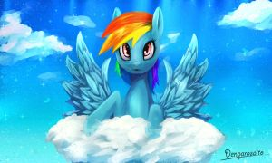 Rainbow Dash!! by DenpaRasaito