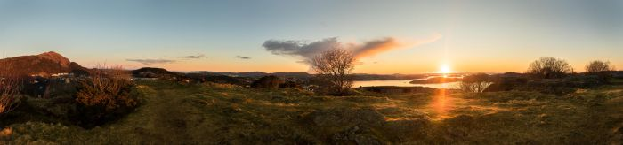 Glowing sunset panorama by cmeeren