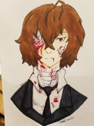 Dazai + Speeddraw! by Bella-Mia-D