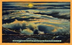 Night Scene Postcards - Above the Clouds by Yesterdays-Paper