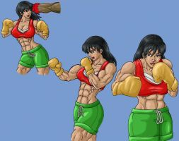 Boxing doodles colored by tj-caris